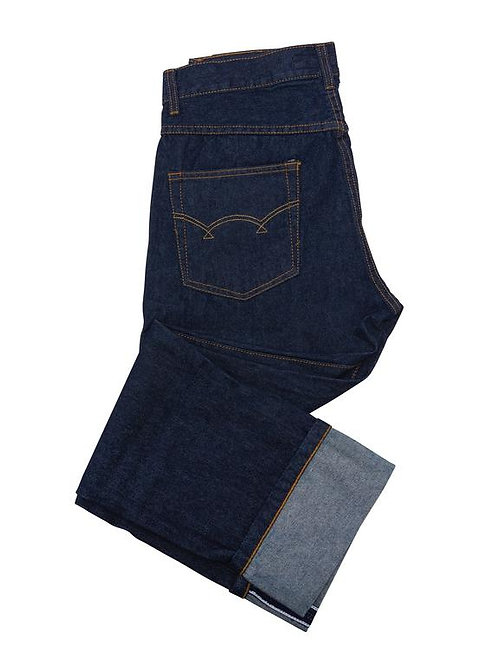 Relco Selvedge Denim Jeans in Dark Blue