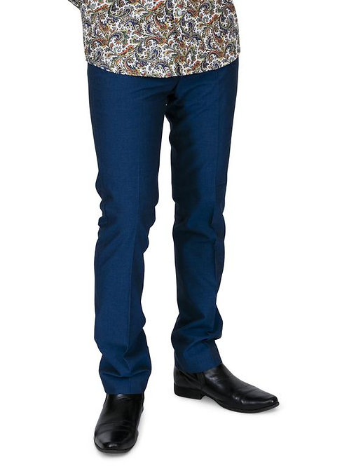 Relco Two Tone Tonic Trousers in Blue