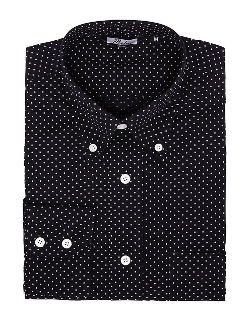 Relco London Navy/White Pin Dot Shirt