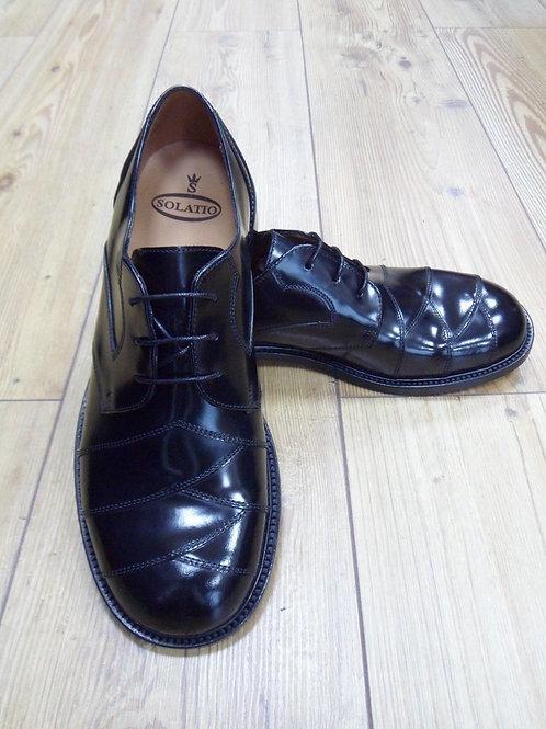 Solatio Original 102 Crossover Leather Shoes in Black