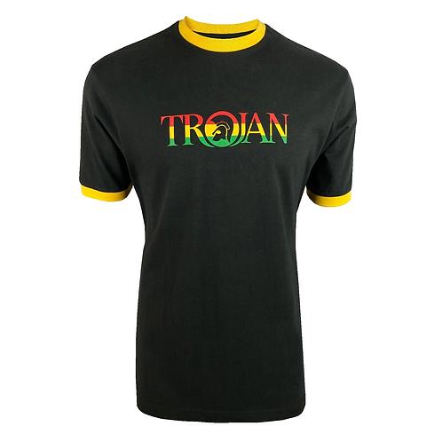 Trojan Logo Ringer Tee TC/1014 Rasta