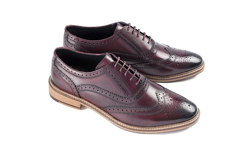 Ikon Leather Buster Brogue in Bordo