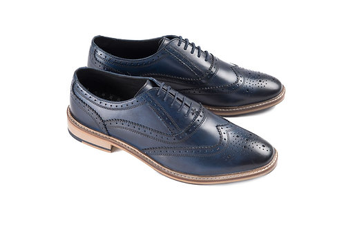 Ikon Leather Buster Brogue in Blue