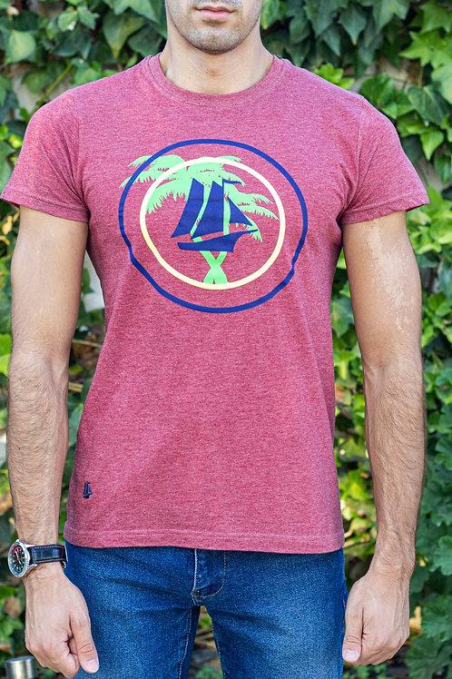 Camiseta manga corta palmeras