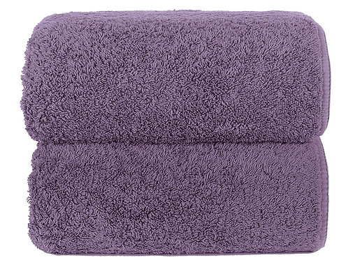 Lavender Long Double Loop Towels by Grazzioza
