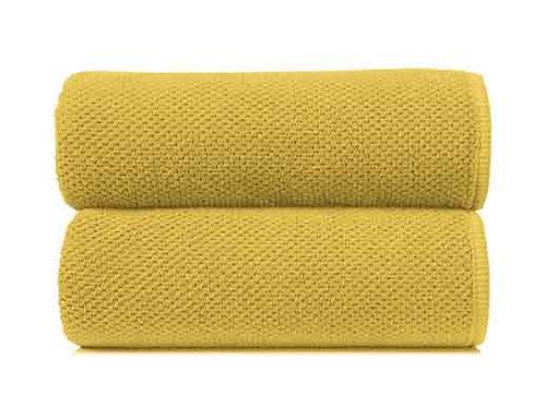 Mustard Bee Waffle Towels by Grazzioza