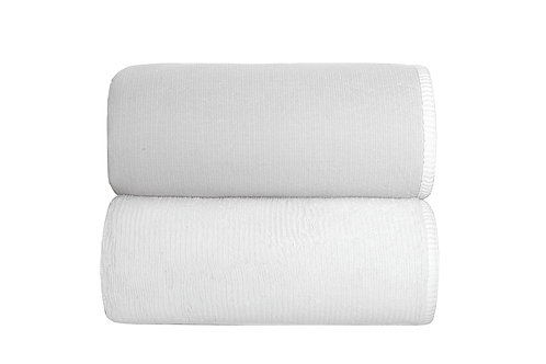 Silver Double Tone Towels by Grazzioza