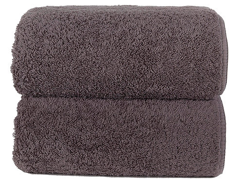 Dark Anthracite Long Double Loop Towels by Grazzioza