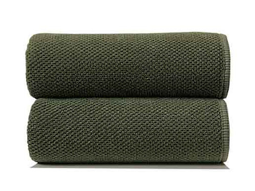 Olive Bee Waffle Towels by Grazzioza