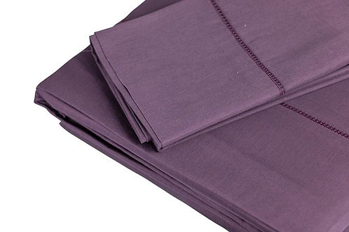 ALMA 350 TC Aubergine Sheet Sets by St. Pierre