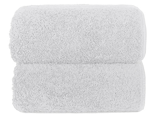 White Long Double Loop Towels by Grazzioza