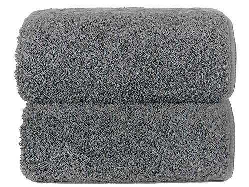 Anthracite Long Double Loop Towels by Grazzioza