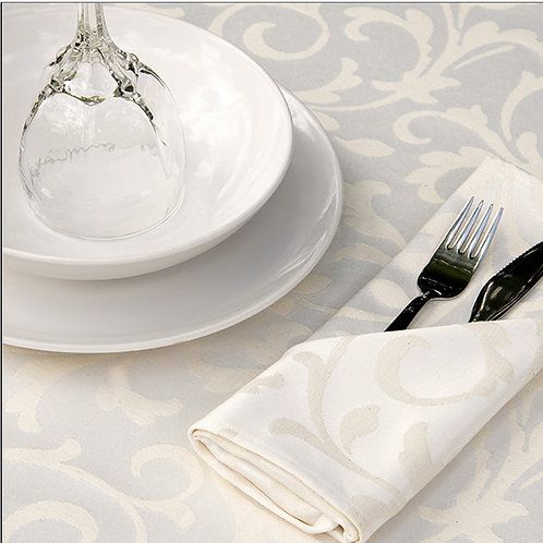 Scroll Natural Tablecloths by Revelle Home Fashions