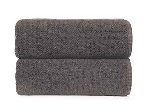 Dark Anthracite Bee Waffle Towels by Grazzioza