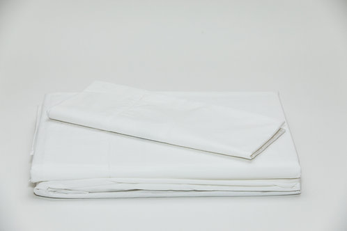 250 TC Percale White Sheet Sets by St. Pierre