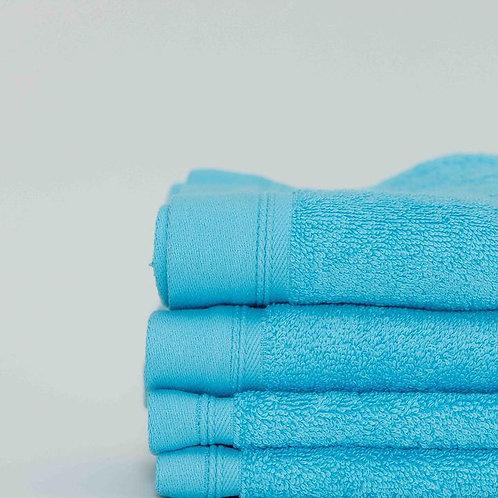 Classic Aqua Cotton Towels by St. Pierre