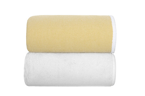 Mustard Double Tone Towels by Grazzioza