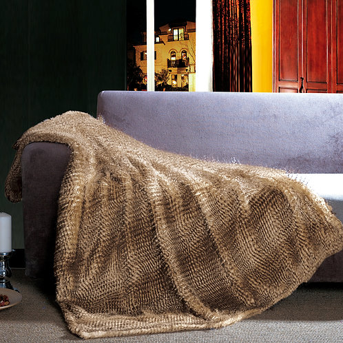 Faux Fur Throw by St. Pierre