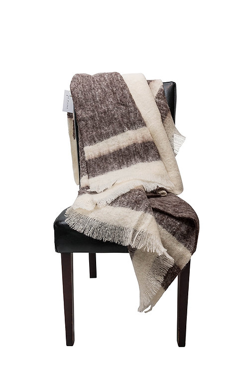 Koffie Mohair Throw by St. Pierre