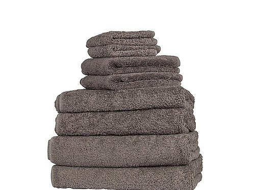 Classic Dark Anthracite Cotton Towels by St. Pierre