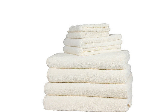 Classic Natural Cotton Towels by St. Pierre