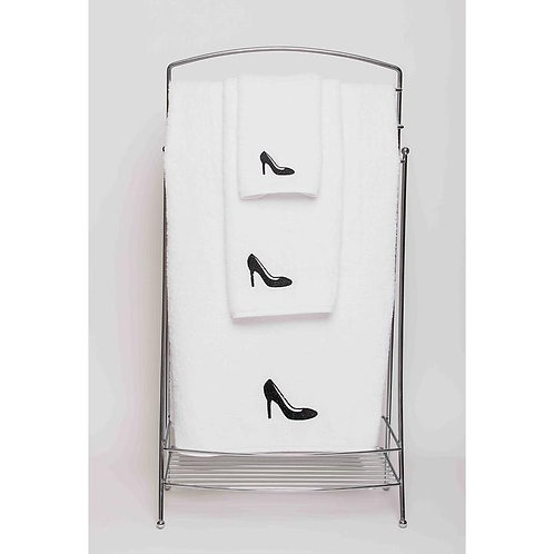 Black Shoe Towels by St. Pierre Home Fashions