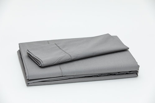 250 TC Percale Dark Grey Sheet Sets by St. Pierre