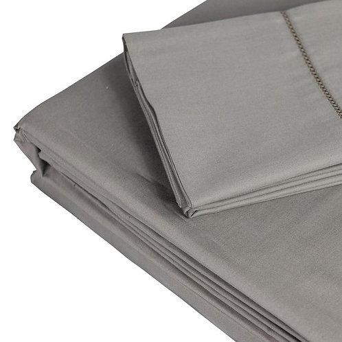 LISBOA Bamboo Grey 106 Sheet Sets by St. Pierre Home Fashions