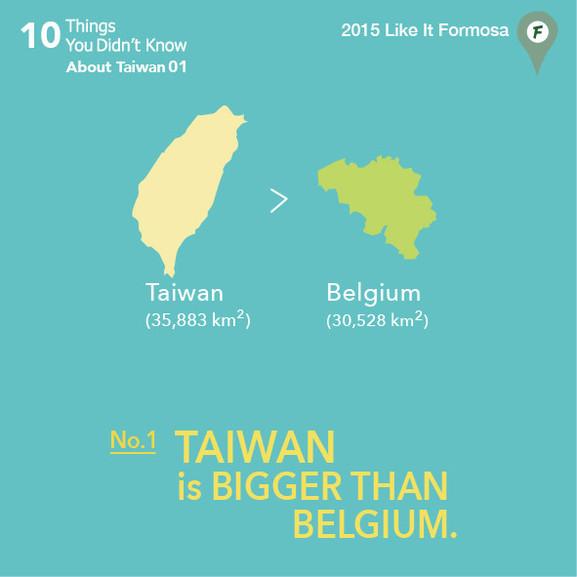 01 Taiwan is bigger than Belgium.