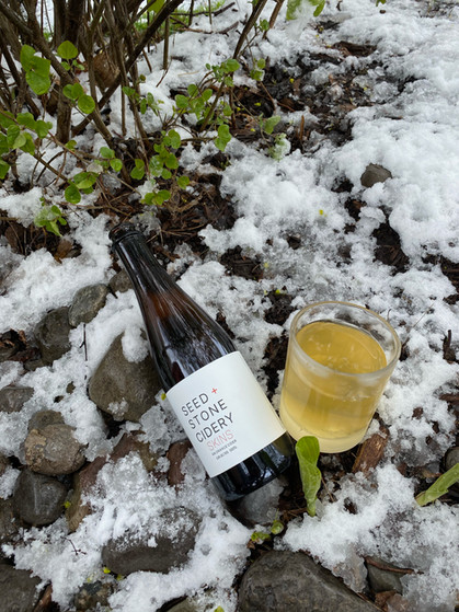 Thirsty Thursday: Cracking Open a Bottle of Seed + Stone Cidery's Skins