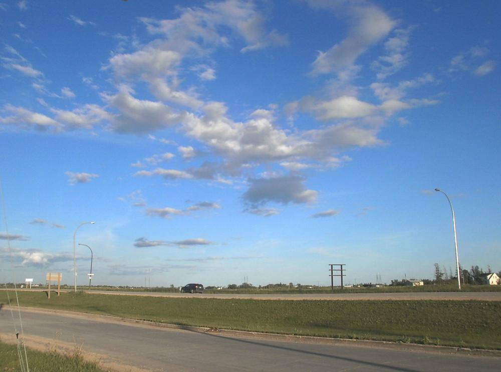 Langs de hoofdweg I-94 ergens in Montana
