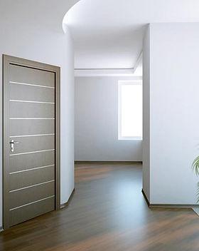 Corte e pintura de portas conforme proje