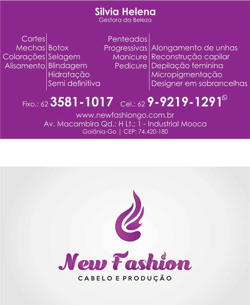 Layout - Cartão - New Fashion