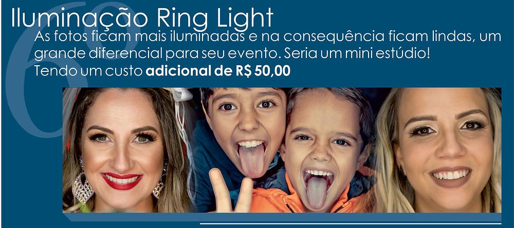 Iluminação Ring Light- Pacotes fotograficos