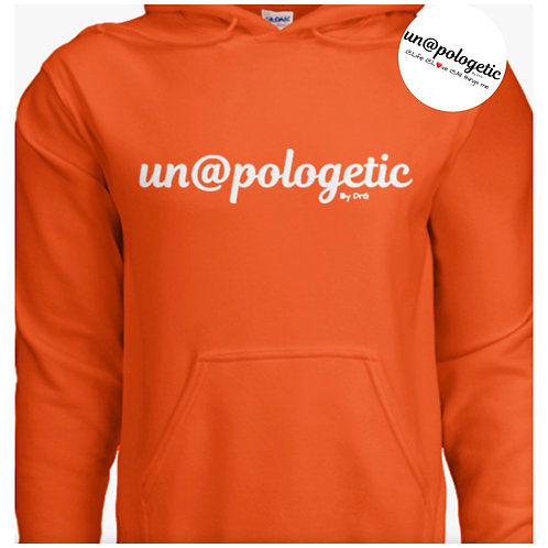 @dult (Unisex) Un@pologeticByDrG He@vy Blend Hoodie (White Lettering)
