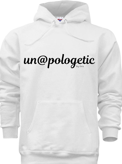 @dult (Unisex) Un@pologeticByDrG He@vy Blend Hoodie (Black Lettering)