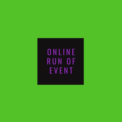 Online run of event template