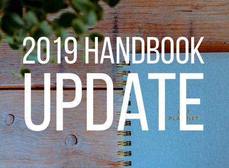 Handbook Update 2019
