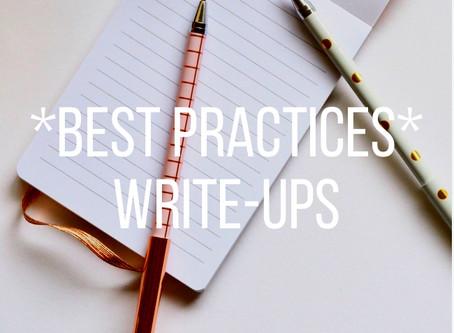 Write-up Best Practices