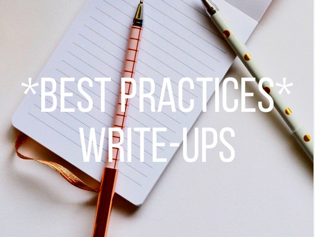 Write-up Best Practices