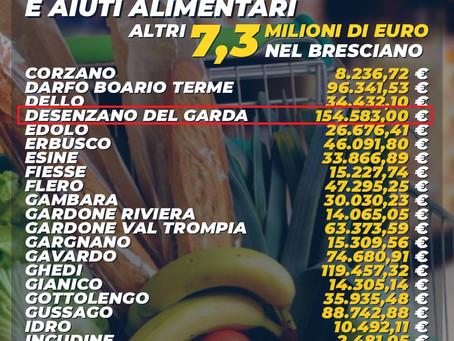 ALTRI 154'583 EURO AL COMUNE DI DESENZANO PER BUONI SPESA ED AIUTI ALIMENTARI