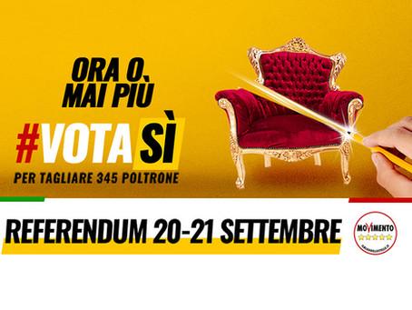 REFERENDUM 20-21 SETTEMBRE, VOTA SI AL TAGLIO DI 345 POLTRONE!