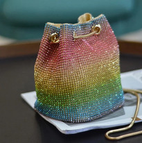 Rainbow Rhinestone Bag