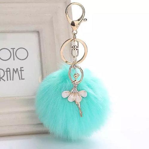Blue Ballerina Keychain
