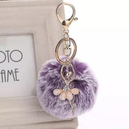 Purple Ballerina Keychain