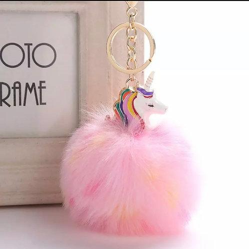 Pink Unicorn Keychain