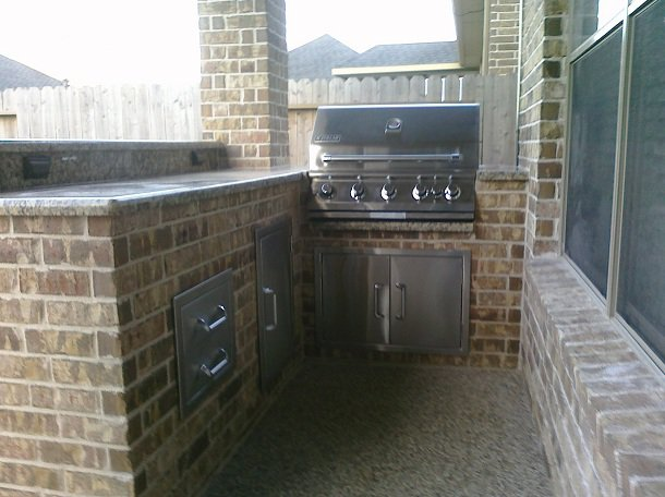 cabinets for outdoor kitchen outdoor kitchens patio covers katy tx houston l shape 5078