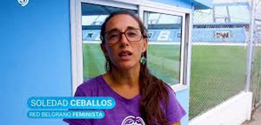 """Soledad Ceballos:""""En Córdoba, Belgrano es el primer club que agrega esta cláusula de género"""""""