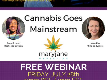 Friday, July 28th – Cannabis Marketing Seminar with Philippa Burgess & Dasheeda Dawson