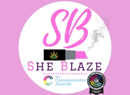 SHE BLAZE PODCAST RECEIVES 2020 COMMUNICATOR AWARD OF DISTINCTION
